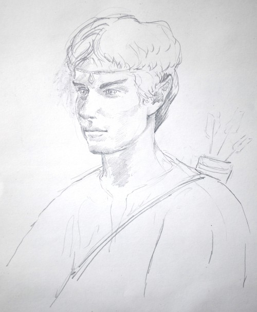 Portrait of young man as an elf, in elvish garb