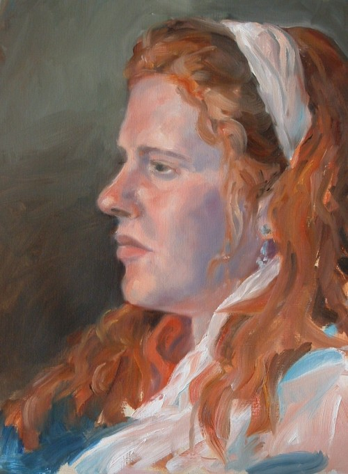 Oil Portrait Study - Young Woman