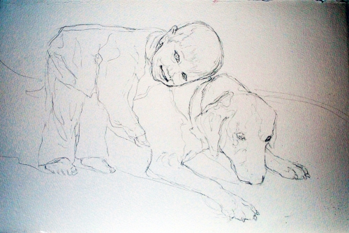 under drawing Gunner & Russ portrait